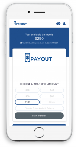 phone screenshot of payout